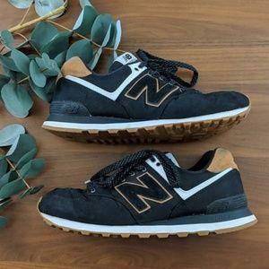 New Balance   574 Black Tan Sneaker 11
